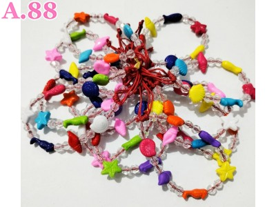 Gelang Tangan Kerang Ikan Bening /lusin (A-9463)